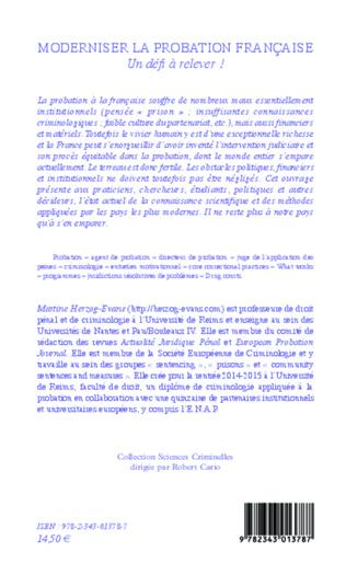 4eme Moderniser la probation française