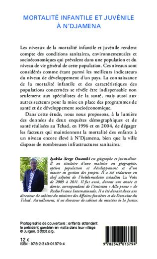 4eme Mortalité infantile et juvénile à N'Djamena