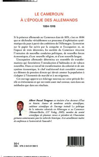 4eme Le Cameroun à l'époque des Allemands