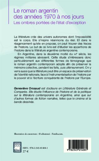 4eme Le roman argentin des années 1970 à nos jours
