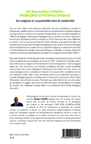 4eme Les maladies à prions : problèmes épistémologiques (Volume 1)