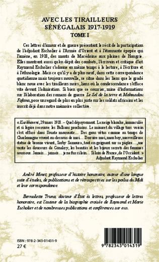 4eme Avec les tirailleurs sénégalais 1917-1919 - Tome 1