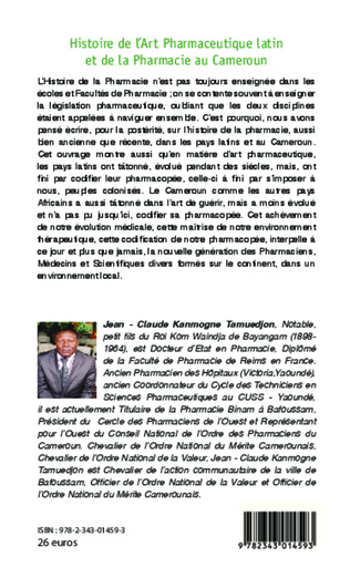 4eme Histoire de l'Art Pharmaceutique latin et de la Pharmacie au Cameroun