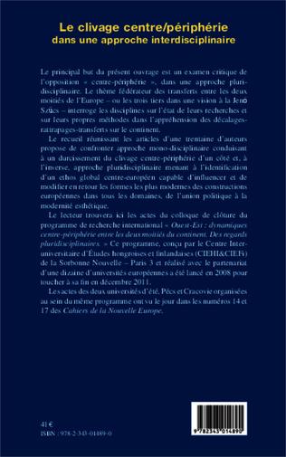 4eme Le clivage centre/périphérie