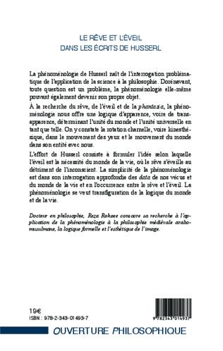 4eme Le rêve et l'éveil dans les écrits de Husserl