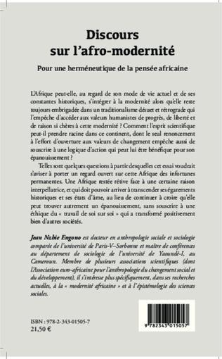 4eme Discours sur l'afro-modernité