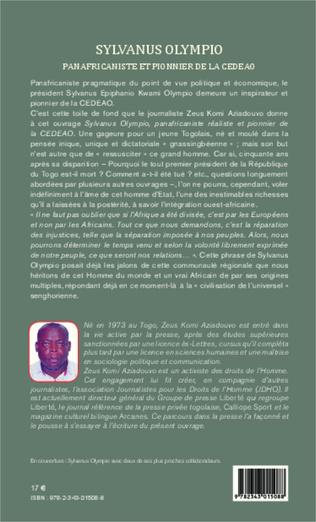 4eme Sylvanus Olympio panafricaniste et pionnier de la CEDEAO