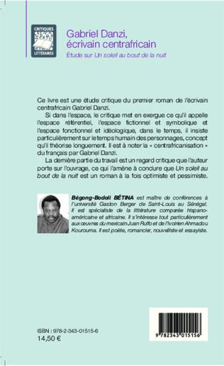4eme Gabriel Danzi, écrivain centrafricain