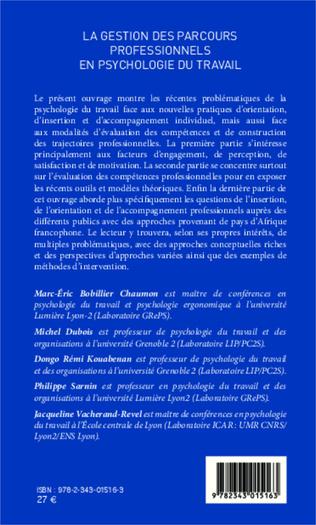 4eme La gestion des parcours professionnels en psychologie du travail