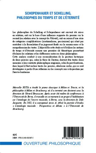 4eme Schopenhauer et Schelling philosophes du temps et de l'éternité