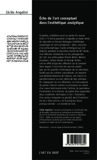 4eme Echo de l'art conceptuel dans l'esthétique analytique