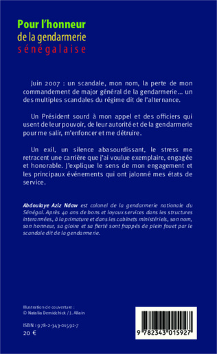 4eme Pour l'honneur de la gendarmerie sénégalaise Tome 1