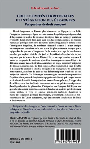 4eme Collectivités territoriales et intégration des étrangers