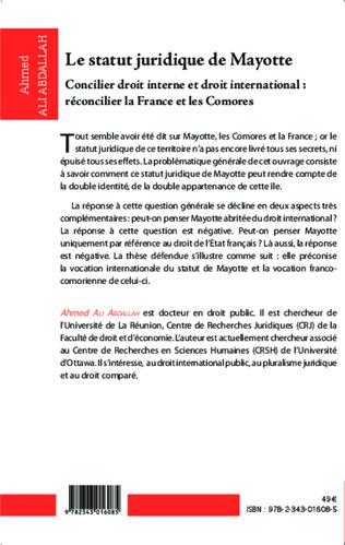 4eme Le statut juridique de Mayotte