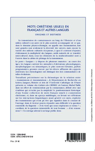 4eme Mots chrétiens usuels en français et autres langues