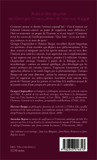 4eme Autour des oeuvres de Georges Chapouthier et Florence Burgat