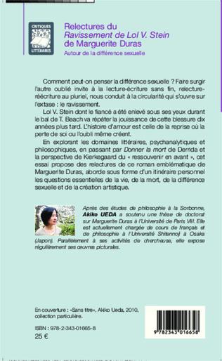 4eme Relectures du <em>Ravissement de Lol V. Stein</em> de Marguerite Duras
