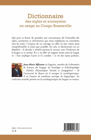 4eme Dictionnaire des sigles et acronymes en usage au Congo-Brazzaville