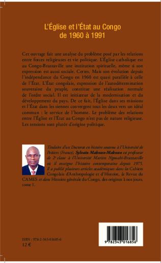 4eme L'Eglise et l'Etat au Congo de 1960 à 1991