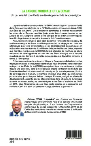 4eme La banque mondiale et la CEMAC