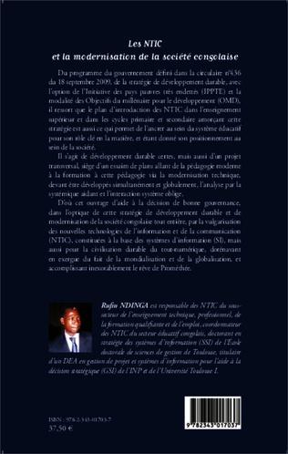 4eme Les NTIC et la modernisation de la société congolaise