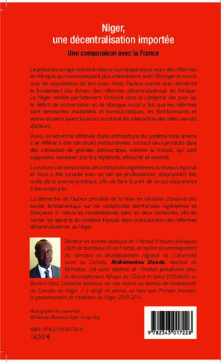 4eme Niger, une décentralisation importée