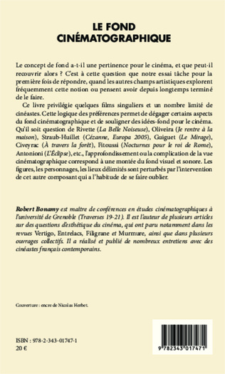 Le Fond Cinematographique Robert Bonamy Livre Ebook Epub