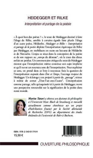4eme Heidegger et Rilke