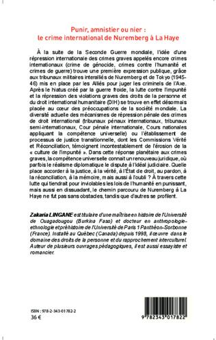 4eme Punir, amnistier ou nier : le crime international de Nuremberg à La Haye