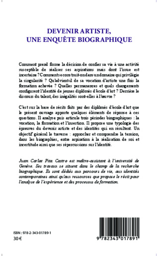 4eme Devenir artiste, une enquête biographique