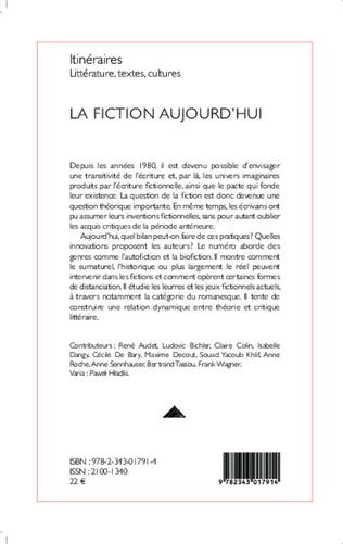 4eme La fiction aujourd'hui