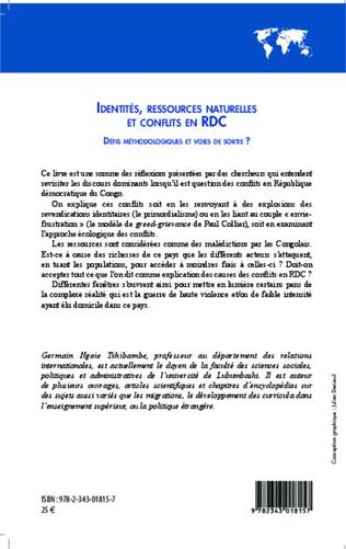 4eme Identités, ressources naturelles et conflits en RDC