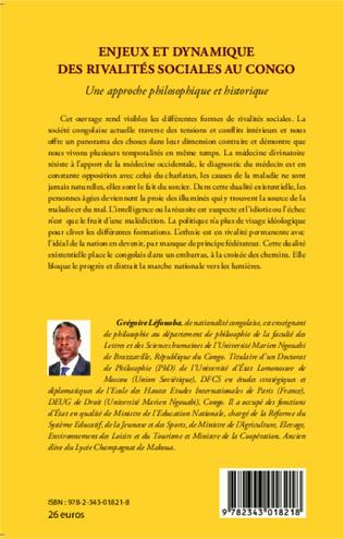 4eme Enjeux et dynamique des rivalités sociales au Congo