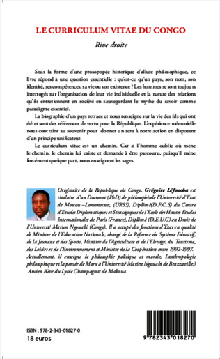 4eme Le curriculum vitae du Congo