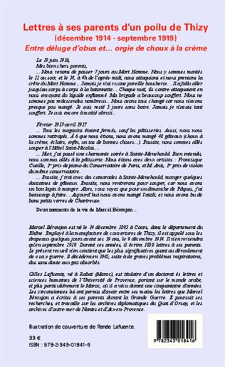 4eme Lettres à ses parents d'un poilu de Thizy (décembre 1914-septembre 1919)