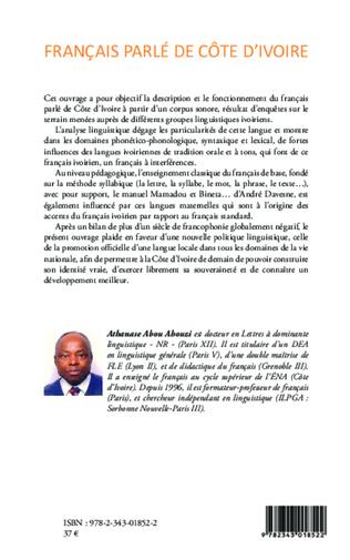 4eme Français parlé de Côte d'Ivoire