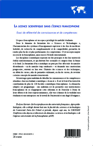 4eme La licence scientifique dans l'espace francophone