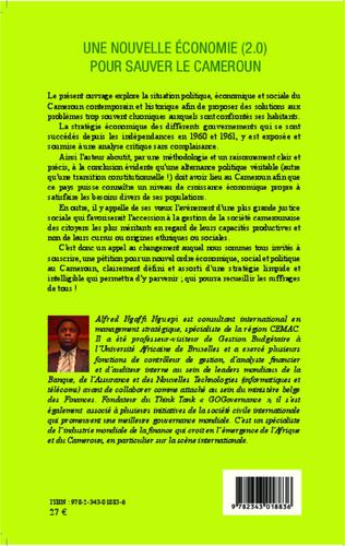 4eme Une nouvelle économie (2.0) pour sauver le Cameroun