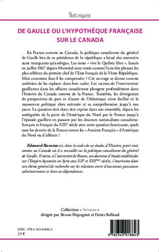 4eme De Gaulle ou l'hypothèque française sur le Canada