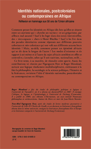 4eme Identités nationales, postcoloniales ou contemporaines en Afrique