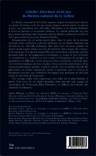 4eme L'atelier d'écriture et de jeu du théâtre national de la Colline