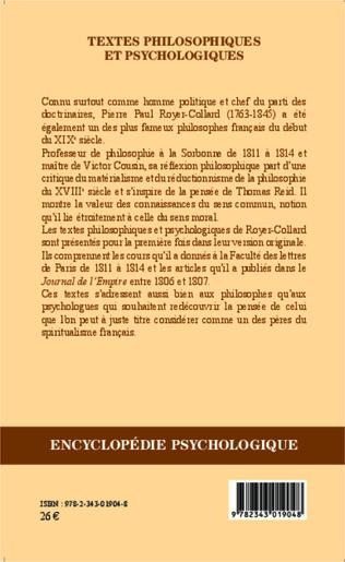 4eme Textes philosophiques et psychologiques