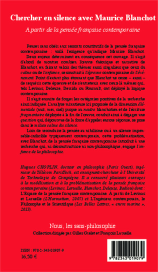 4eme Chercher en silence avec Maurice Blanchot