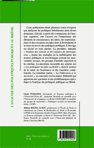 4eme L'analyse des politiques publiques au Brésil