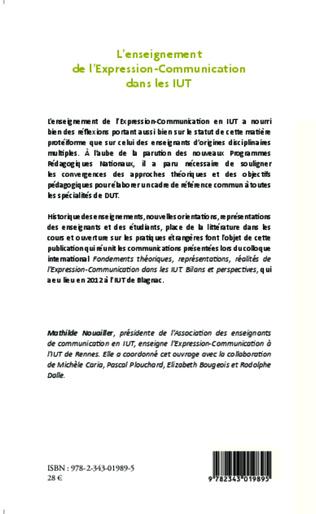 4eme L'enseignement  de l'Expression-Communication dans les IUT