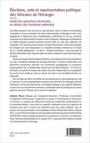 4eme Élections, vote et représentation politique des Africains de l'étranger