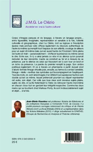 4eme J.M.G. Le Clézio ; Accéder en vrai à l'autre culturel