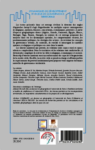 4eme Dynamiques de développement et enjeux de gouvernance territoriale