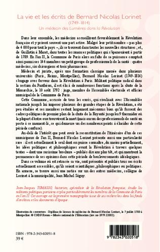 4eme La vie et les écrits de Bernard Nicolas Lorinet (1749-1814)