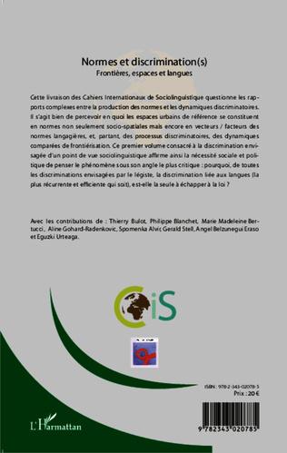 4eme Normes et discrimination(s)